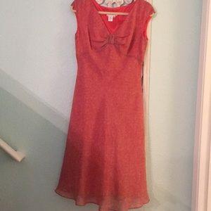 Coldwater Creek romantic summer silk midi dress